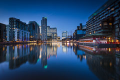 Canary Wharf, Londres Photographie stock