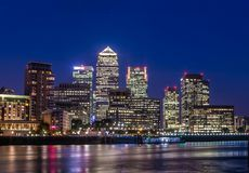 Canary Wharf Londres Reino Unido Fotografía de archivo