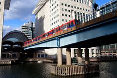 Canary Wharf metro station London Stock Images