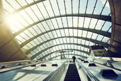 Canary Wharf metro Station, London, England Royalty Free Stock Images