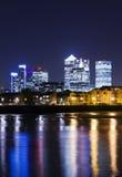 Canary Wharf by night Stock Photo