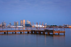 Canary Wharf and North Greenwich. Stock Photography