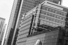 Canary Wharf Office Buildings, London Stock Image