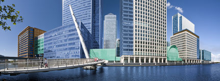 Canary Wharf panorama Royalty Free Stock Photo