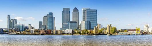 Canary Wharf panorama, London Royalty Free Stock Photo