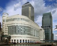 Canary Wharf, perspective corrected royalty free stock photos