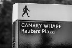 Canary Wharf Reuters Plaza - ΛΟΝΔΙΝΟ - ΜΕΓΑΛΗ ΒΡΕΤΑΝΊΑ - 19 Σεπτεμβρίου 2016 Στοκ Φωτογραφία
