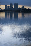 Canary wharf silhouette Royalty Free Stock Photo
