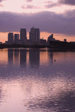 Canary wharf silhouette Royalty Free Stock Photography