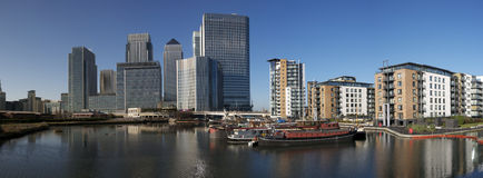 Canary Wharf Skyline Royalty Free Stock Photo
