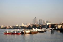 Canary Wharf Skyline Stock Photography