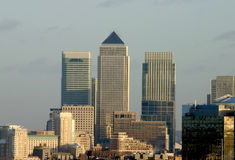 Canary wharf Skyline Royalty Free Stock Images