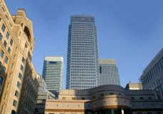 Canary wharf Skyline Royalty Free Stock Image