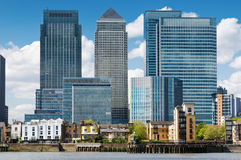 Canary Wharf Skyline. Financial district, bank buildings at London, Canary wharf stock photography