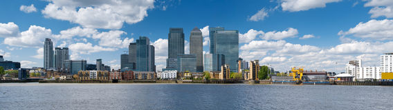 Canary Wharf Skyline. Financial district, bank buildings at London, Canary wharf royalty free stock photo