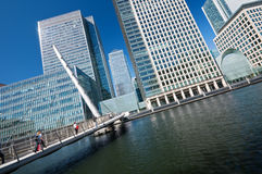 Canary Wharf Skyline Royalty Free Stock Photos