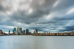 Canary Wharf, Skyline, London Großbritannien Lizenzfreie Stockbilder