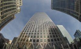 Canary Wharf skyline in London Stock Image