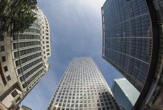 Canary Wharf skyline in London Royalty Free Stock Images