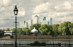 Canary Wharf skyline panorama royalty free stock photo
