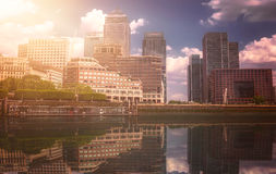 Canary Wharf skyline Stock Photos