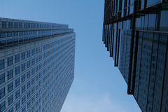 Canary Wharf skyscrapers Royalty Free Stock Photography