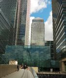 Canary Wharf skyscrapers stock photos