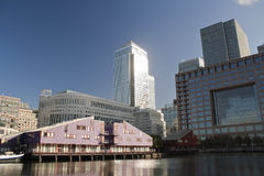 Canary Wharf skyscrapers in London Stock Images