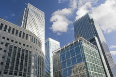 Canary Wharf skyscrapers in London Royalty Free Stock Photo
