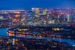 Free Canary Wharf Skyscrapers, London, UK Royalty Free Stock Image - 102875886