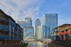 Canary Wharf skyscrapers Royalty Free Stock Photos