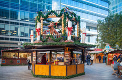 Canary Wharf square, traditional fun fair, London Royalty Free Stock Image
