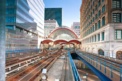 Canary Wharf station in London Royalty Free Stock Photos