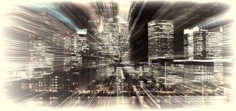 Canary Wharf summen Explosion laut Stockfotografie