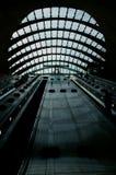 Canary Wharf tube station escalators Stock Photos