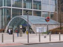 Canary Wharf tube station Royalty Free Stock Image