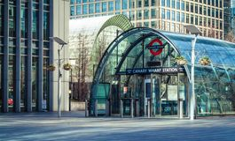 Canary Wharf tube station Royalty Free Stock Image