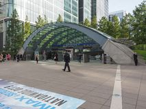 Canary Wharf tube station in London Royalty Free Stock Photos