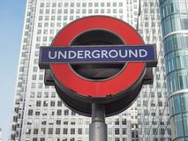Canary Wharf tube station in London Stock Photography