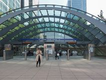 Canary Wharf tube station in London Royalty Free Stock Images