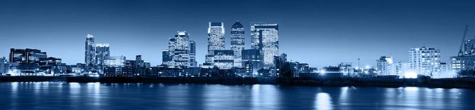 Canary Wharf at twilight stock image
