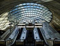 Canary Wharf Underground Station Stock Image