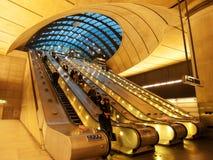 Canary Wharf underjordisk station, London Royaltyfri Bild