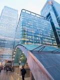 Canary Wharf underjordisk station, London Royaltyfri Foto