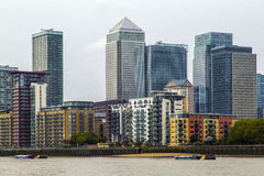 Canary Wharf. View of the Canary Wharf. London royalty free stock image