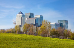 Canary Wharf view, London Stock Image