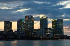 Canary Wharf von Nord-Greenwich Lizenzfreie Stockfotos