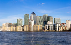 Canary Wharf from the West Royalty Free Stock Image