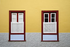 Canary windows style. Colorful windows, Canary windows style Royalty Free Stock Photo