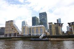Canarywharf is een belangrijk bedrijfsdiedistrict in Torengehuchten wordt gevestigd, Oost-Londen Royalty-vrije Stock Foto